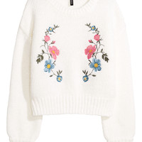 H&M Knit Sweater with Embroidery $39.99