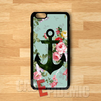 Anchor on vintage floral phone case -snw for iPhone 4/4S/5/5S/5C/6/ 6+,samsung S3/S4/S5/S6 Regular,samsung note 3/4