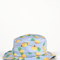 Pineapple Striped Bucket Hat