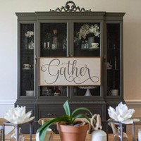 Gather Farmhouse Home Decor Sign