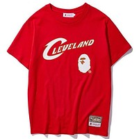 A Bathing APE BAPE x Mitchell & Ness NBA Round Neck Short Sleeve T-Shirt