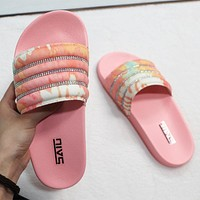 2020 new women's wear-resistant and comfortable flat slippers shoes
