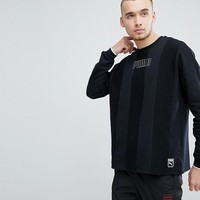 Puma Heritage Crew Neck Sweatshirt In Black 57500001 at asos.com