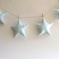 Baby Boy Nursery Decor Star Garland, Baby Room Decor, Nursery Wall Decor, Modern Baby, Unique Baby Shower Gift, Blue