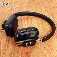 FILA New fashion letter print couple wireless bluetooth noise cancelling headphones headset Black