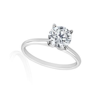 3/4 Carats Solitaire Diamond Engagement Ring GH/SI2-I1 14K Yellow Gold or White Gold