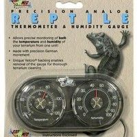 Zoo Med Analog Reptile Thermometer and Humidity Gauge