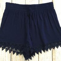 One Way Or Another Shorts: Navy