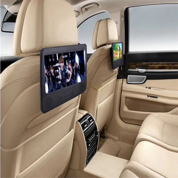 Best price BLACK 7.8'' Car DVD PLAYER With 2 Screen USB & SD FM TV RADIO+Headrest Car DVD player With Dual Screen free shipping