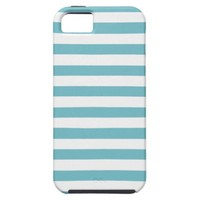 Blue Curacao And White Stripes iPhone 5 Case from Zazzle.com