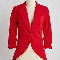 Fine and Sandy Blazer in Red