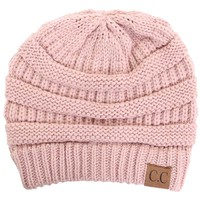 C.C. Exclusives Cable Knit Beanie in Rose Pink HAT-20A-ROSE