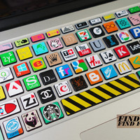 keyboard decal/Macbook decal/Macbook Pro Keyboard Skin/Macbook Air Sticker/apple/wireless keyboard/vinyl sticker mingpai