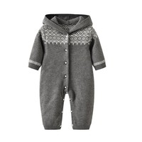 newborn baby long sleeves romper knit Baby Clothes baby winter snowsuit Newborn bebes Hooded Clothes Boys Jumpsuit Coverall