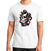 Skull and snakes District T-Shirt (on man)