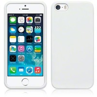 Apple iPhone 5 / 5S White Tpu Jelly Rubber Gel Skin Case Cover Plus Screen Protector & Cleaning Cloth