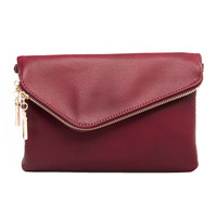 Wildfire Clutch Handbag In Burgundy