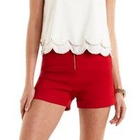 Ruched High-Waisted Shorts by Charlotte Russe