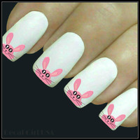 Easter Nail Decal 20 Bunny Water Slide Decals Nail Art