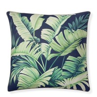 Printed Palm Leaves Pillow Cover