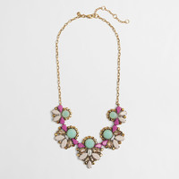 FACTORY DRAPED STONE CLUSTERS NECKLACE