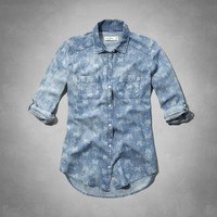 supersoft printed chambray