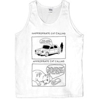 Inappropriate Catcalling vs. Appropriate Catcalling -- Unisex Tanktop