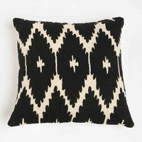 Magical Thinking Crewel Ikat Pillow- Black & White One