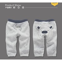2017 Autumn winter baby clothing baby pants Cute Toddler Baby Boys Girl PP Pants fleece Kids Cartoon Pattern Trousers sports