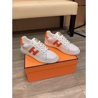 HERMES  Men Fashion Boots fashionable Casual leather Breathable Sneakers Running Shoes 0413em