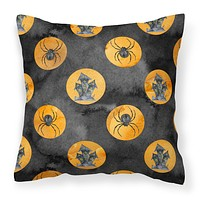 Watecolor Halloween Circles Fabric Decorative Pillow BB7529PW1414