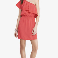 RED ONE SHOULDER DRESS from EXPRESS