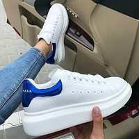 Onewel Alexander McQueen  men and women sports casual shoes blue