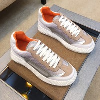 Armani Men's Leather Fashion Low Top Sneakers Shoes