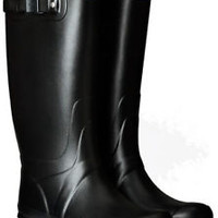 HUNTER HUNTRESS BLACK TALL EXTENDED CALF WELLINGTON BOOT Sizes 7 - 11 Wide Welly