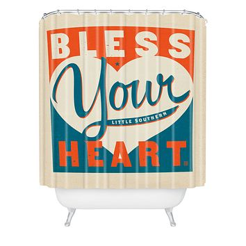 Anderson Design Group Bless Your Heart Shower Curtain