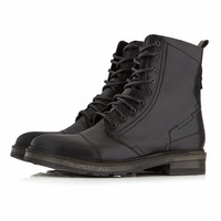 Dune Stitch Detail Lace Up Military Boots* - TOPMAN