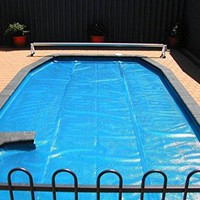 By PoolCentral 18' Round Heat Wave Solar Blanket Swimming Pool Cover - Blue