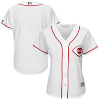 Women's Cincinnati Reds Majestic White Home Cool Base Jersey