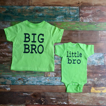 Big Brother Shirt, Little Brother Shirt, Brother Shirts, Big Bro Shirt, Little Bro Bodysuit, Toddler t shirt, Infant bodysuit
