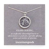 Shattered Glass Ceiling Necklace | Women Empowerment Jewelry