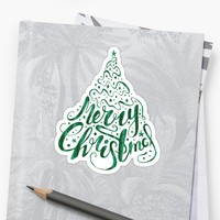 'Merry Christmas' Sticker by machare
