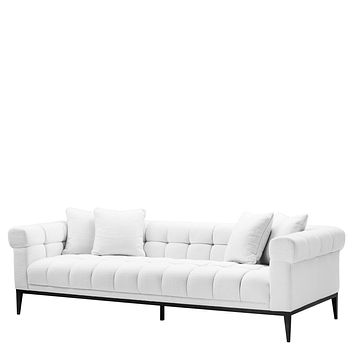 White Biscuit-Tufted Sofa | Eichholtz Aurelio