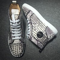 Cl Christian Louboutin Louis Spikes Style #1857 Sneakers Fashion Shoes