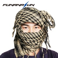 Tactical Arab Scarf Shawl Keffiyeh Shemagh Desret Scarf Mask Cycling Shawl Neck Cover Man Woman Hiking Sunshade Head Wrap