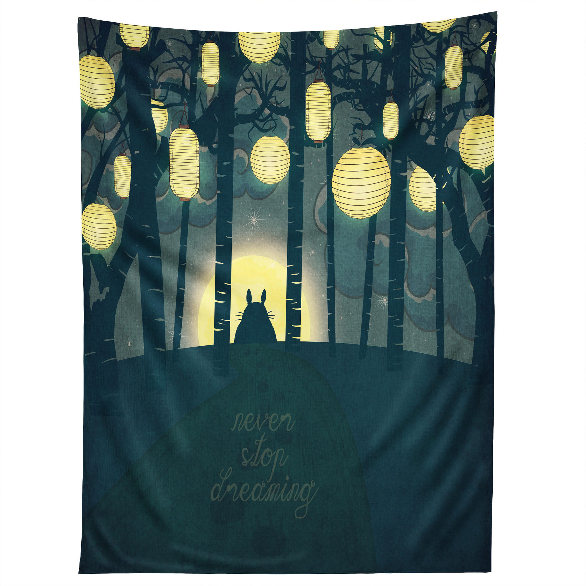 Image of Belle13 Totoros Dream Forest Tapestry