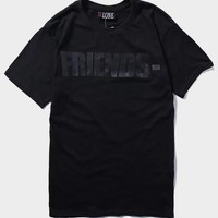 cc DCCK Vlone All Black T-Shirt