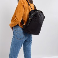 ASOS DESIGN zip over canvas backpack with double handle at asos.com