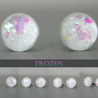 Frozen Color Shifting 10mm Post Earrings