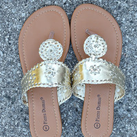 Preppy Sandal – Gold